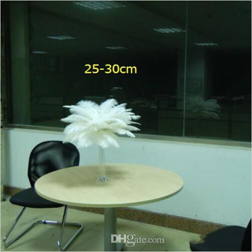 많은 당 10-12 인치 화이트 타조 깃털 깃털 공예 용품 웨딩 파티 테이블 센터 장식 장식 무료 배송