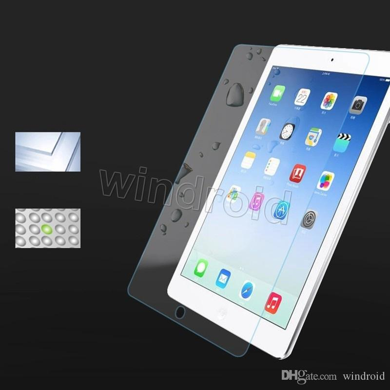 Tempered glass for ipad pro 12.9 9.7 inch 9H 2.5D 0.33mm Screen Protector Hardness Shatterproof Anti-Scratch HD + retail box Free DHL
