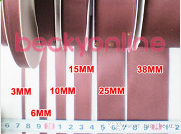 option ! Double Faced Sided Satin Ribbon Full Reel Crafts 3mm/6mm/9mm/16mm/25mm/38mm Width