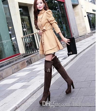 8f9717ac8cb Fashion Sexy Stiletto Boots Over the Knee Boots Platform Fashion Woman  Matte PU Straps Women s Boots Mens Casual Shoes Size 34-39 Business Casual  Shoes Best ...
