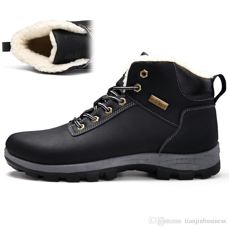 huge selection of 8e345 566ce Stiefel Winter Sneakers 2018 Wanderschuhe Stiefel Herrenschuhe Keep Warm  Schneeschuhe Trekkingschuhe Outdoor Große Größen 45