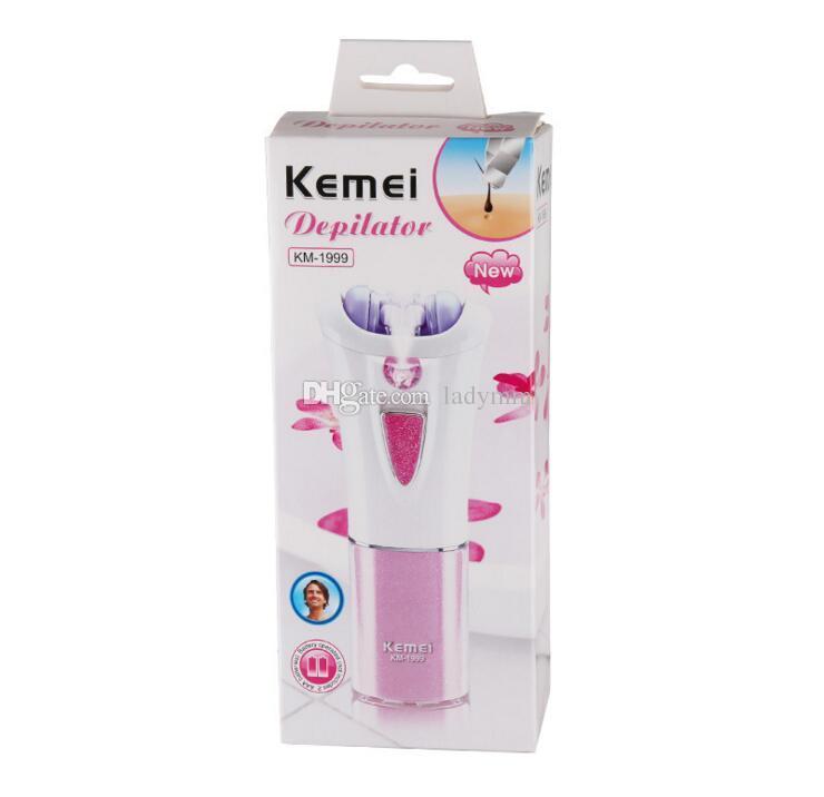 Dhl شحن 120 قطع kemei KM-1999 المحمولة سيدة الحلاقة الشخصية لنزع الشعر ماكينة حلاقة الحلاقة لنزع الشعر مصغرة