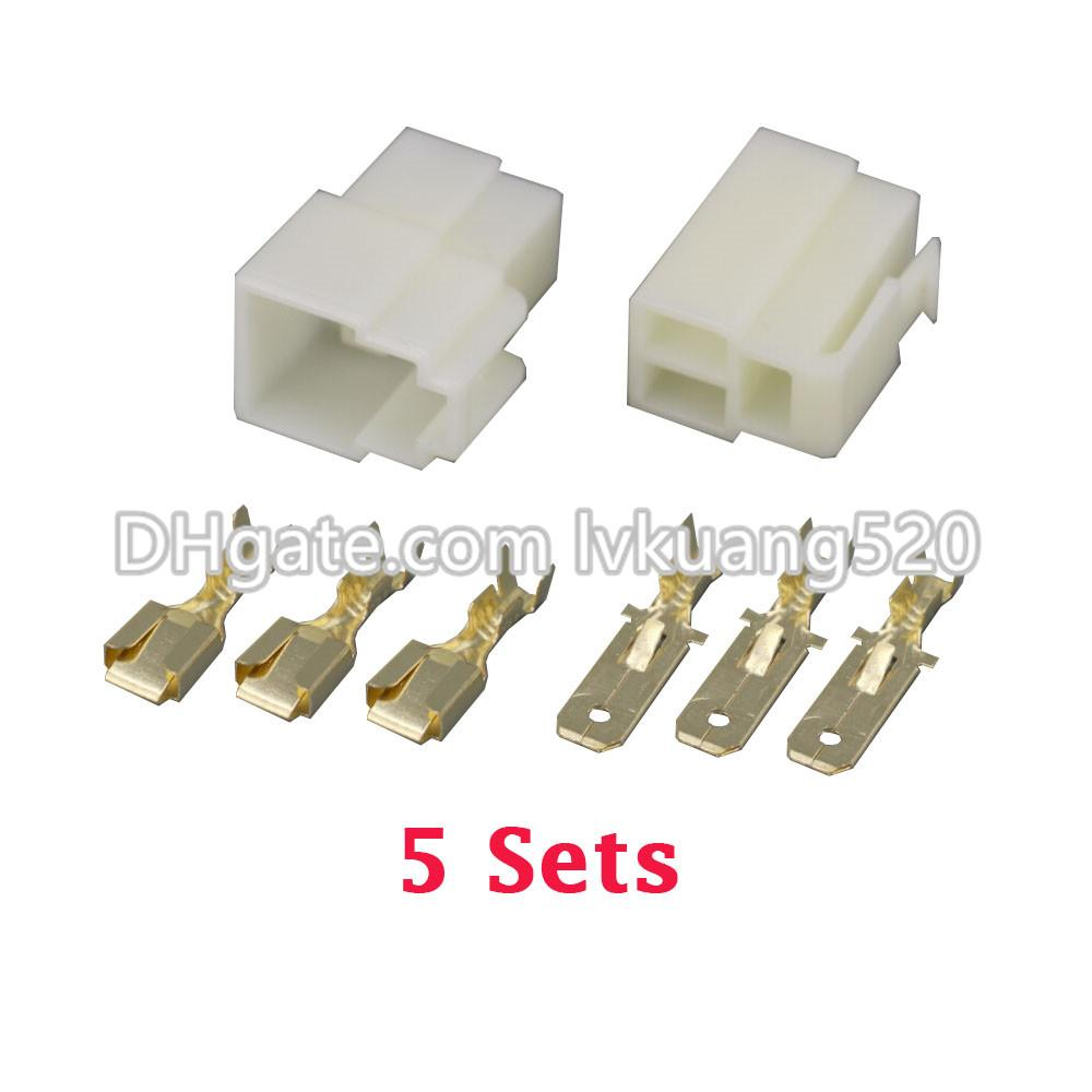 2018 /Kits All New 3 Pin/Way Dj7031 6.3 Electrical Wire Connectors ...