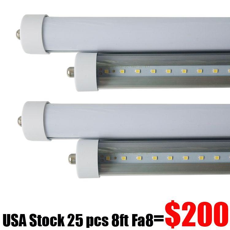 Fluorescent Tube Light Fixtures 8ft 8 Ft Single Pin Fa8 T8 Led ...