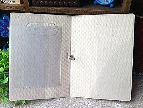 x السفر رحلة جواز السفر حامل بطاقة غطاء 3d كاميرا / الجمجمة مع زهرة بو الجلود محفظة جواز سفر
