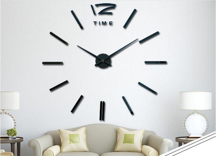 DIY 3D مرآة الاكريليك ملصق جدار حائط لون عشوائي أسود 0201003