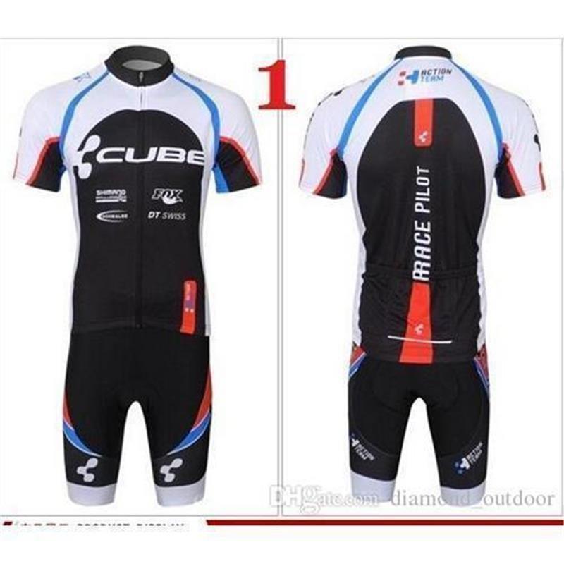 62e146490 Factory Hot Cycling Jersey CUBE Racing Short Sleeve Cycling Clothing ...