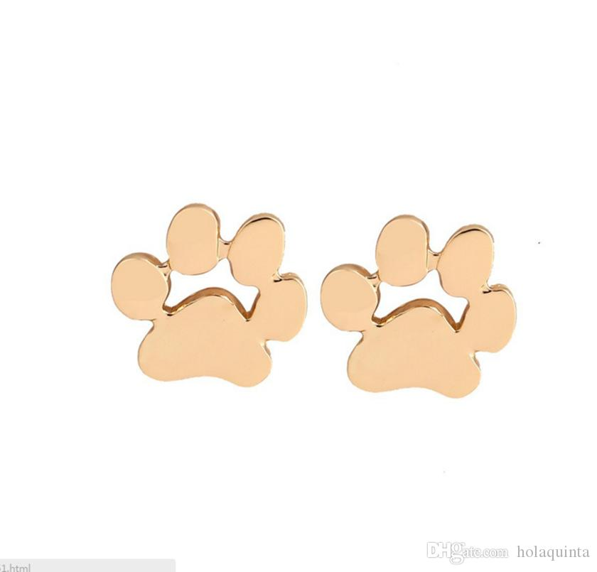 Fashion earrings brincos Animal Pet Paw Print Stud Earrings for Women Small Cat and Dog Paw Earrings Punk feminina
