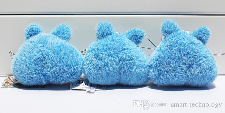 هاياو ميازاكي جارتي Totoro القطيفة سلسلة المفاتيح المعلقات 3 ألوان لعب لينة مع حزام شحن مجاني 7CM