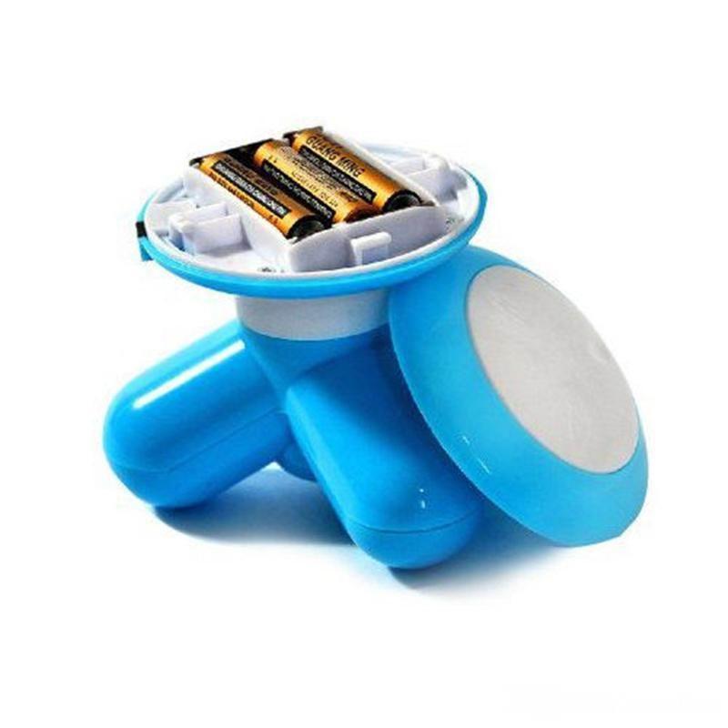 Pescoço Massageador Onda Da Cintura E Máquina de Cuidados Musculares Cabeça Ombro Massagem Três Pés Lidar Com USB Tamanho Pequeno Massageador de ombro pescoço bonito