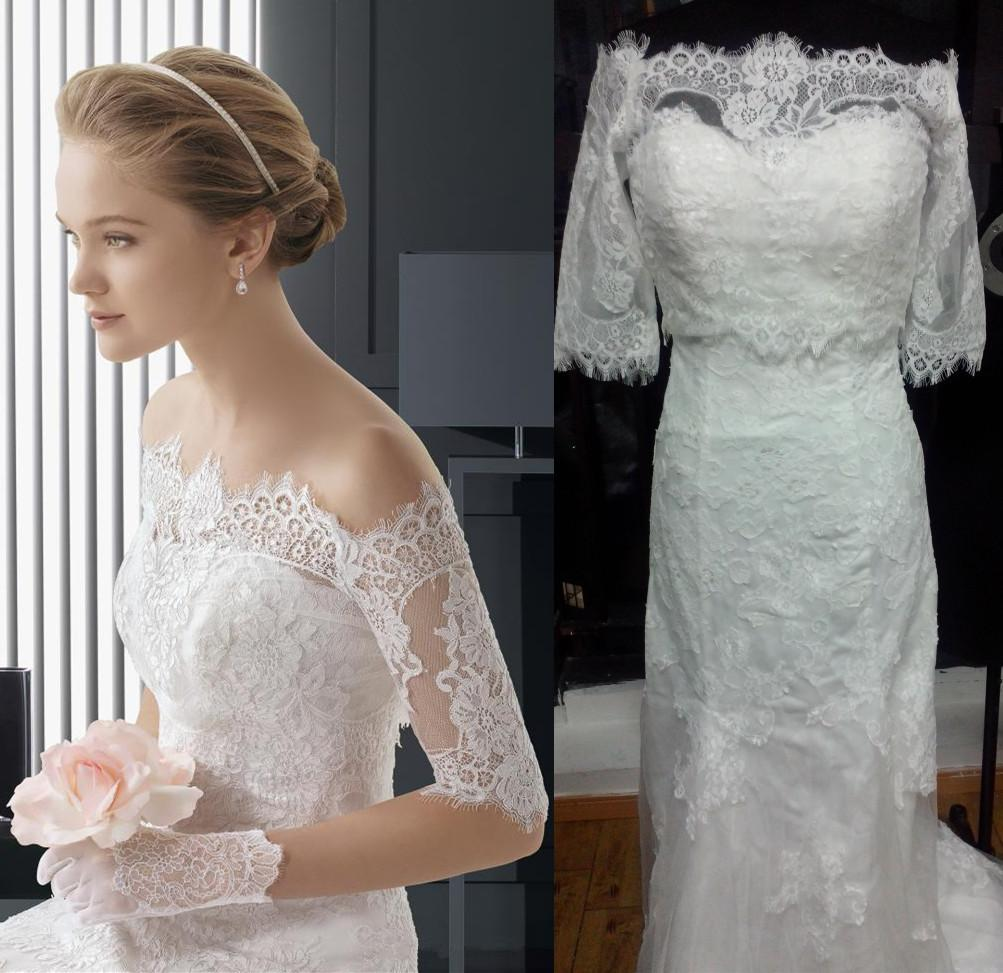 Discount off shoulder lace jacket two piece 2014 a line wedding discount off shoulder lace jacket two piece 2014 a line wedding dresses with strapless tulle 12 long sleeve applique chapel train bridal gowns hot wedding ombrellifo Choice Image