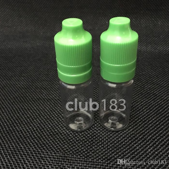 Fast shipping Plastic bottles Colorful needle Bottle 10ml PET Plastic Dropper Bottles Tamper Child Proof Caps & Tips For E Vapor Cig Liquid