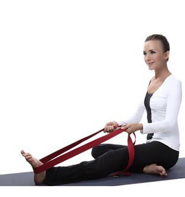 Nouveau Multi-Couleurs 183 * 3.8 cm Yoga Ceinture Taille Ceinture Bras Stretch Strap Pilates Ceinture Yoga Exercice Fitness Gym Corde Outil DHL Gratuit