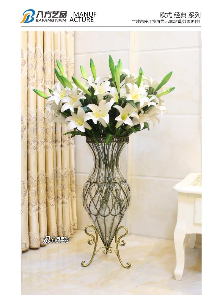 Flower Arranging A Hydroponic Plant Lucky Bamboo Floor Glass Vase