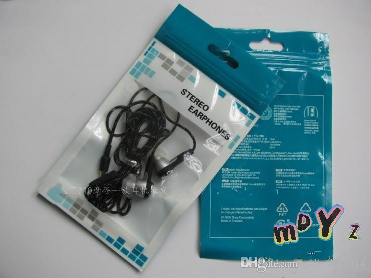 Colorful Plastic Zipper Retail package Packing bag bags for Cell phone Accessories Earphones Battery chargers Data cable