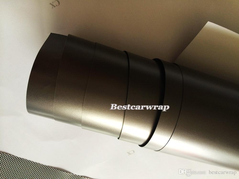 Темно-серый окутея металлическая матовая виниловая пленка для укладки автомобиля, покрывающие наклейки антрацит матовый, охватывающий размер кожи 1,52x20 м / рулон 4.98x66ft
