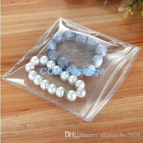 DHL 8*12cm Resealable Zipper Top Anti-oxidation PVC Jewelry Pearl Packing Bag Zipper Lock Clear Plastic Package Bag Pouch Polybag
