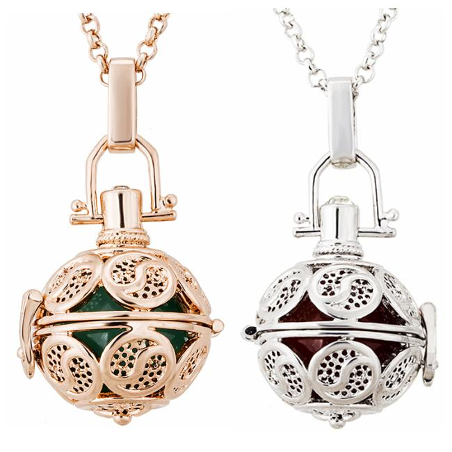 2015 2016 Harmonious ball Mexican Bola Ball Pendant Necklace 2 Colors Copper Metal Pregnancy Baby Chime Ball Necklace