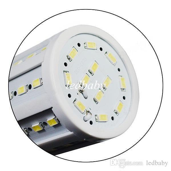 110V 220V 15W Bombillas led luz de maíz E27 E26 E14 B22 blanco cálido / frío 5630SMD luces led Ahorro de energía