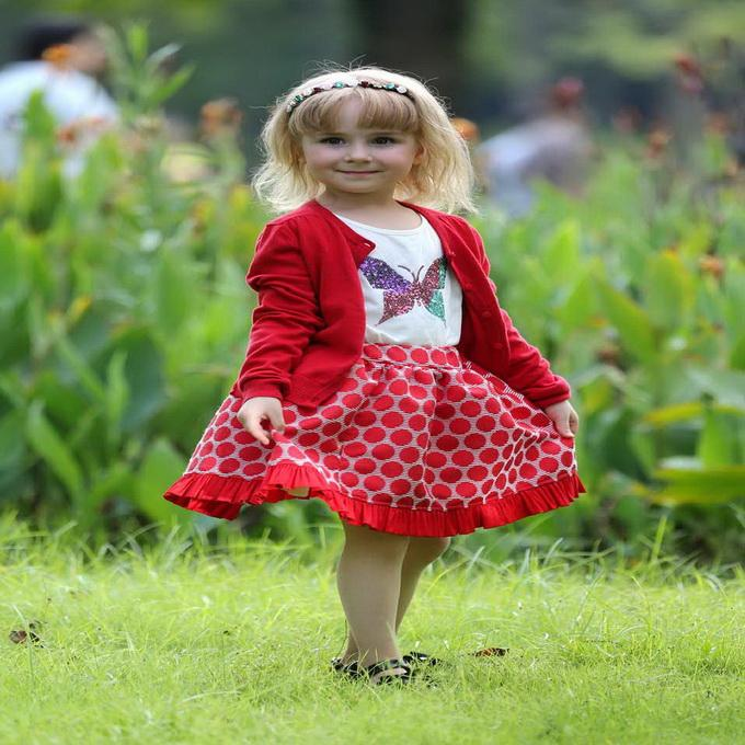 Pettigirl Retail New Arrival Girls Christmas A-Line Skirts 100% Cotton Red Dot Baby Kids Clothing Only Skirt ST80715-20W