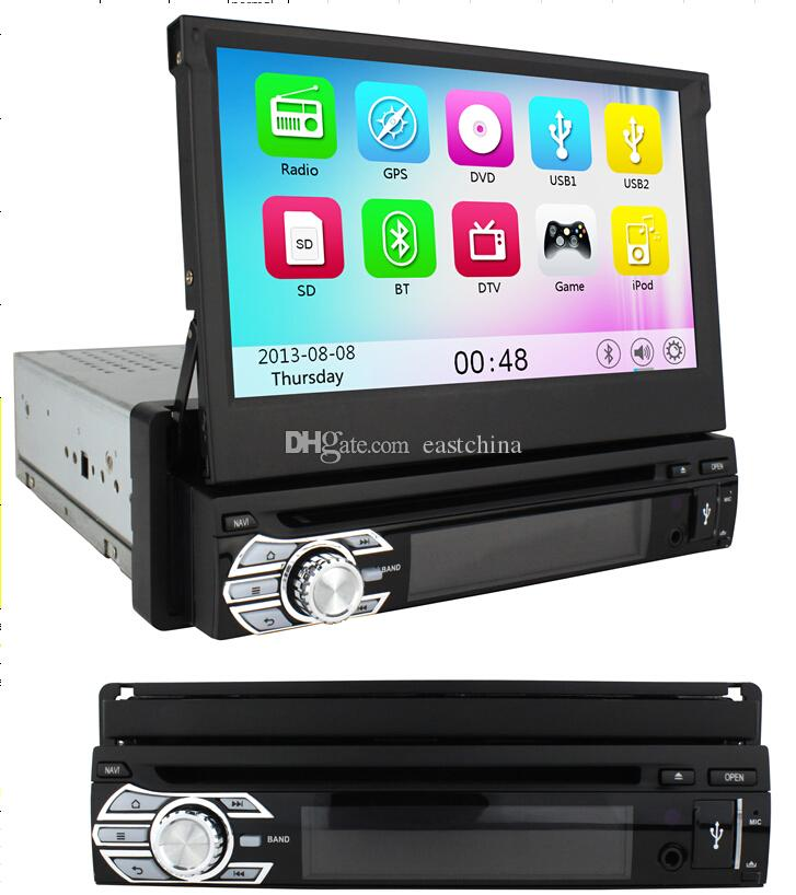 1Din Detachable Panel Car DVD GPS Navigation With 7 Inch