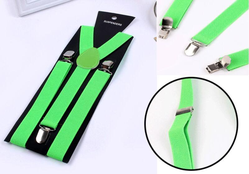 Clip-on Suspenders Elastic Candy Y-Shape Adjustable Braces 2.5 cm Wide For Unisex Men Womens Thanksgiving Day Christmas gift