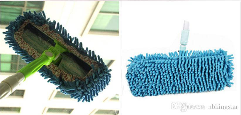 Dust Chenille Microfiber Mop Slipper House Cleaner Lazy Floor Cleaning Foot Shoe Cover by DHL
