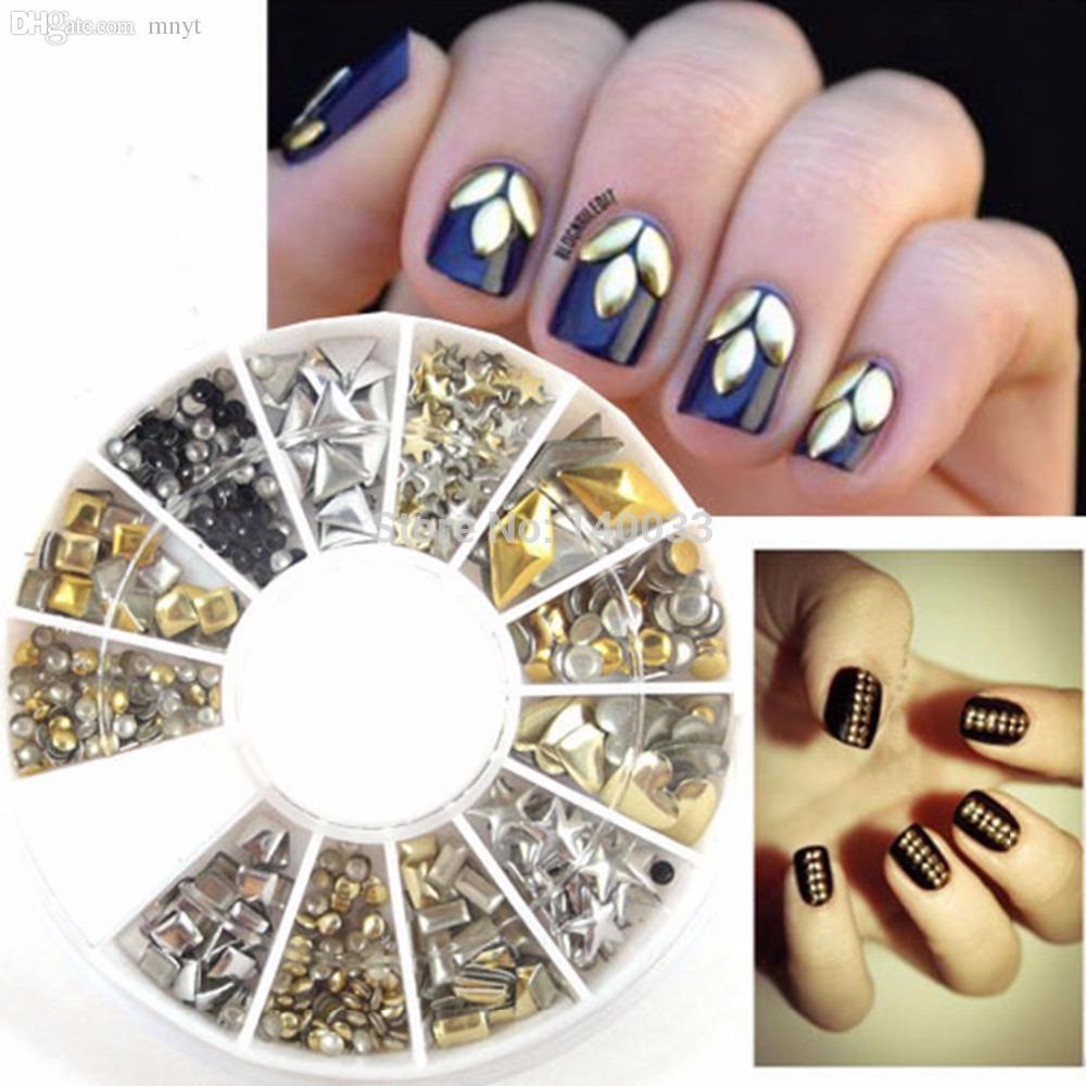 Wholesale Multi Style Studs Nail Art 3d Design Decoration Stickers ...