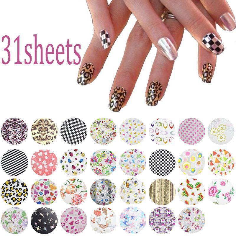 20*4cm Symphony Nail Foil Sticker Flower Style Nail Art Transfer ...
