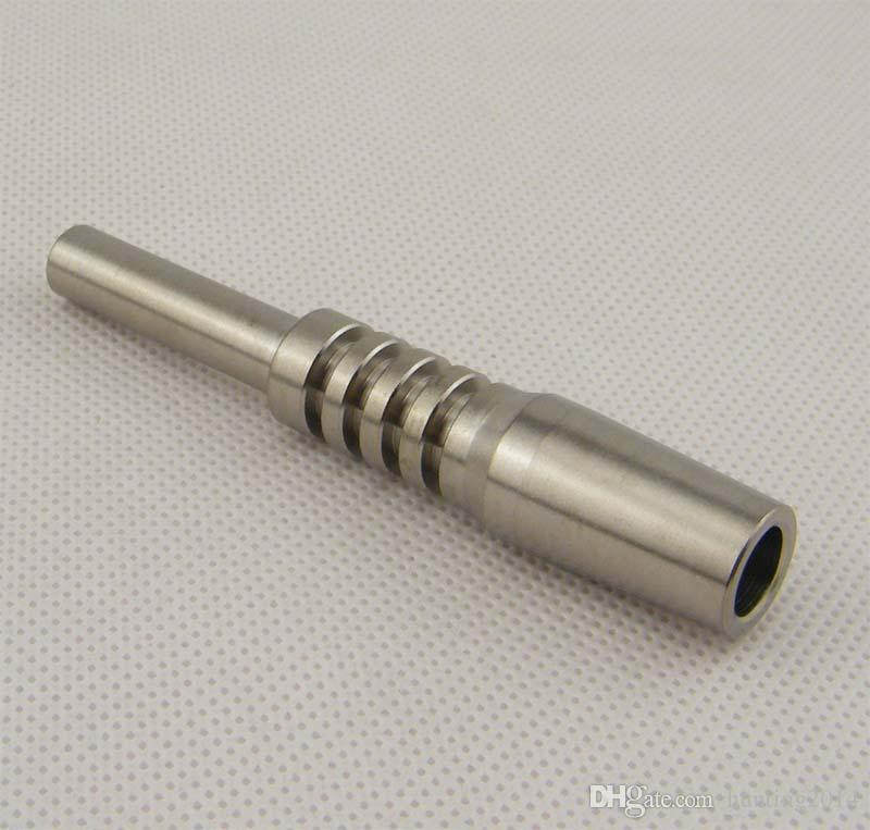 Stokta Titanyum Tırnak 14mm Ters Tırnak Sınıf 2 Dab Dab Saman Konsantre Cam Su Borusu için Titanyum İpucu Bong Yağı
