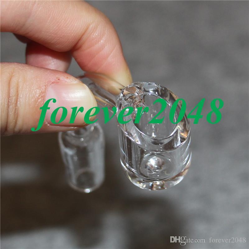Female Male 10 14 18 mm Quartz Nail 4mm Thick 90 Degrees 100% Pure Quartz Banger Nail Domeless Glass Bong Nail