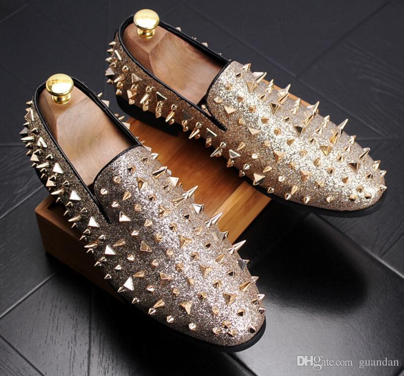 Scarpe da uomo con punta a punta scarpe da uomo italiane di design scarpe da uomo in pelle di vacchetta nere di lusso nero scarpe da ufficio rivetti 2hn22