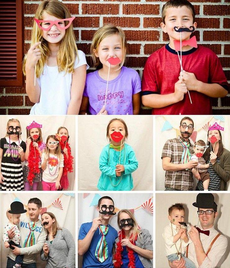 58 unids / set Wedding Centerpieces Photo Booth Props Gafas Bigote labio en un palo de fiesta divertido favor suministros envío gratis