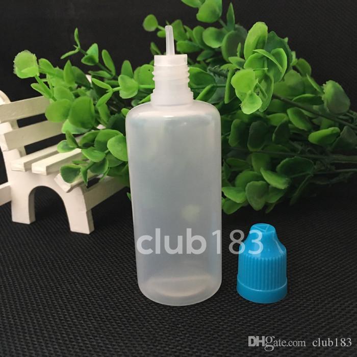 Stokta Hızlı nakliye Yumuşak Stil İğne Şişe 60ml Plastik Damlalık Şişeler Çocuk Kanıtı Caps LDPE E Çığ E Sıvı Boş Şişe