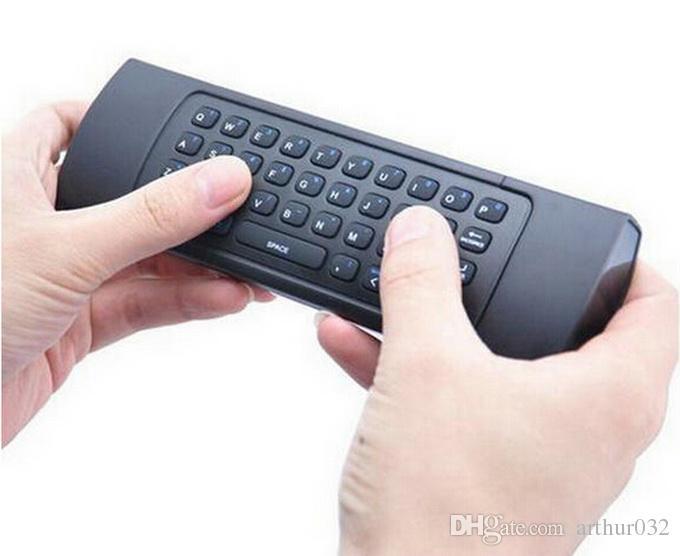 X8 2,4 GHz Wireless Keyboard MX3 mit 6-Achsen-Mikrofon Voice 3D IR-Lernmodus Fly Air-Maus-Hintergrundbeleuchtung Fernbedienung für Android Smart TV Box