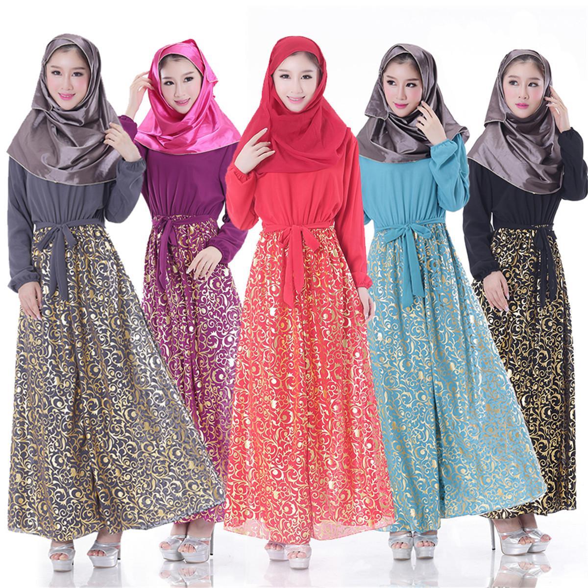 Ihram Kids For Sale Dubai: 2019 Muslim Arab Robes Robes Muslim Women Chiffon Long