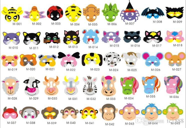 Children'S Lovely Animal Masks, Eva Material Safety Mask ...