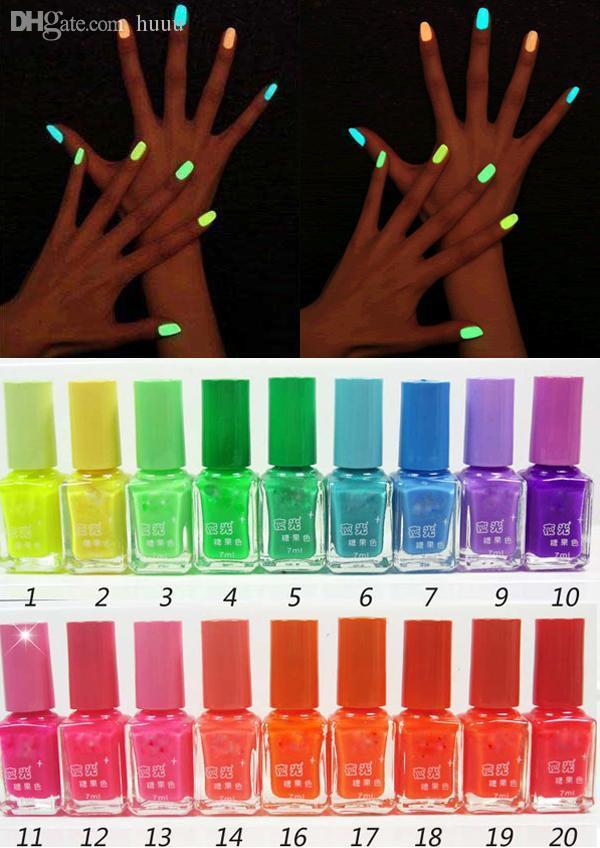 Wholesale Hot Sale Option Multi Colorfluorescent Neon Nail Art ...