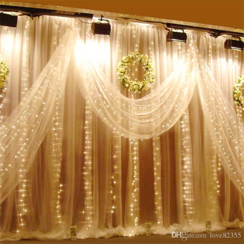 110 فولت أو 220 ~ 240 فولت 6 متر × 3 متر العديد من الألوان الصمام الستار ضوء سلسلة 600 المصابيح عيد الميلاد عطلة الزفاف حفل زفاف