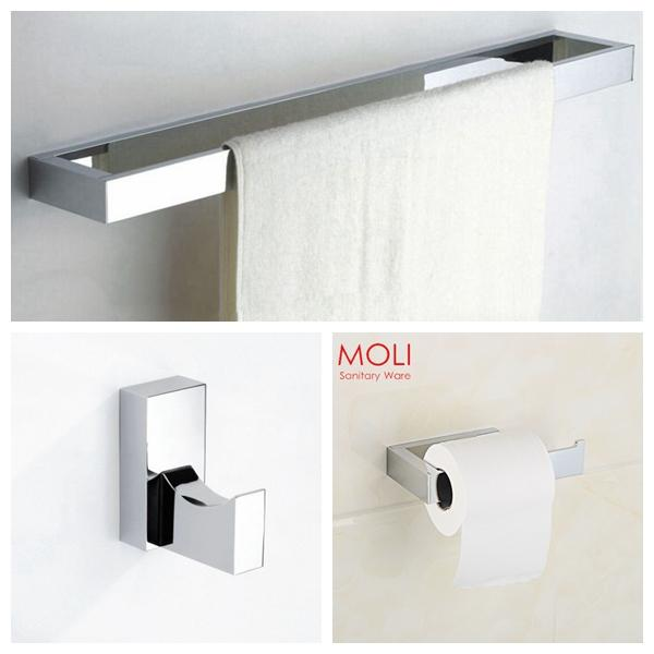 Bathroom Accessories Set Square Towel Bartoilet Paper Holder Robe