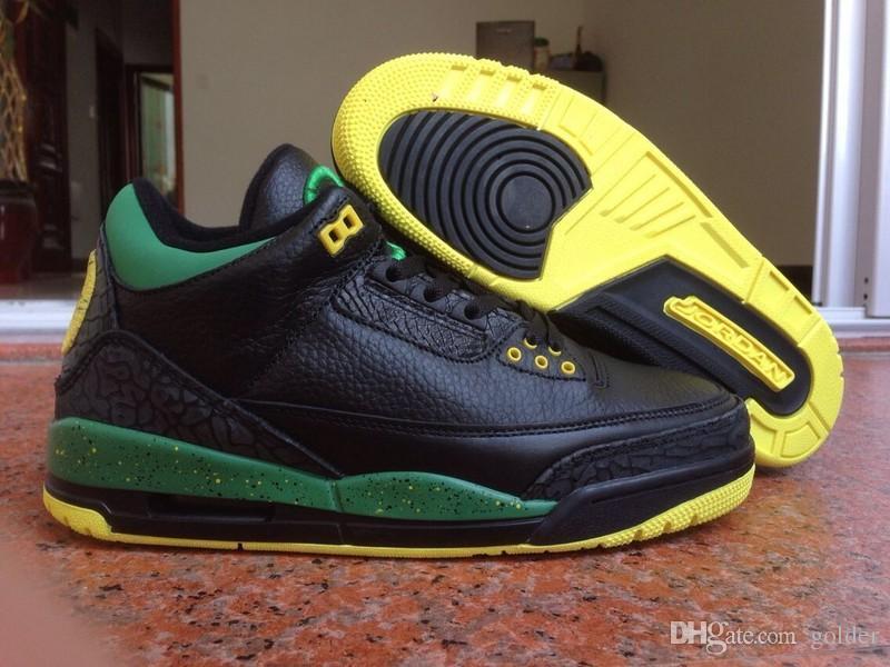 sports shoes 32617 130bf Nike Air Jordan 3 Green Oregon Ducks Retro 3s Men S Jordan 3 Size 8 13 Shoes  Basketball Girls Basketball Shoes From Golder,  142.14  DHgate.Com