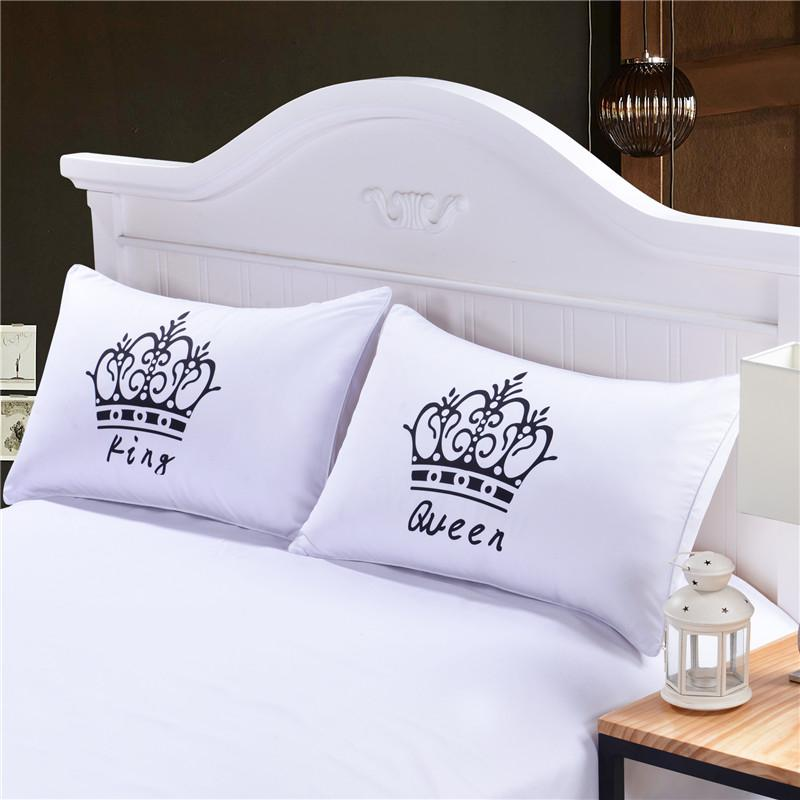 Royal Crown Pillow Cases Queen King Designer Pillow Covers