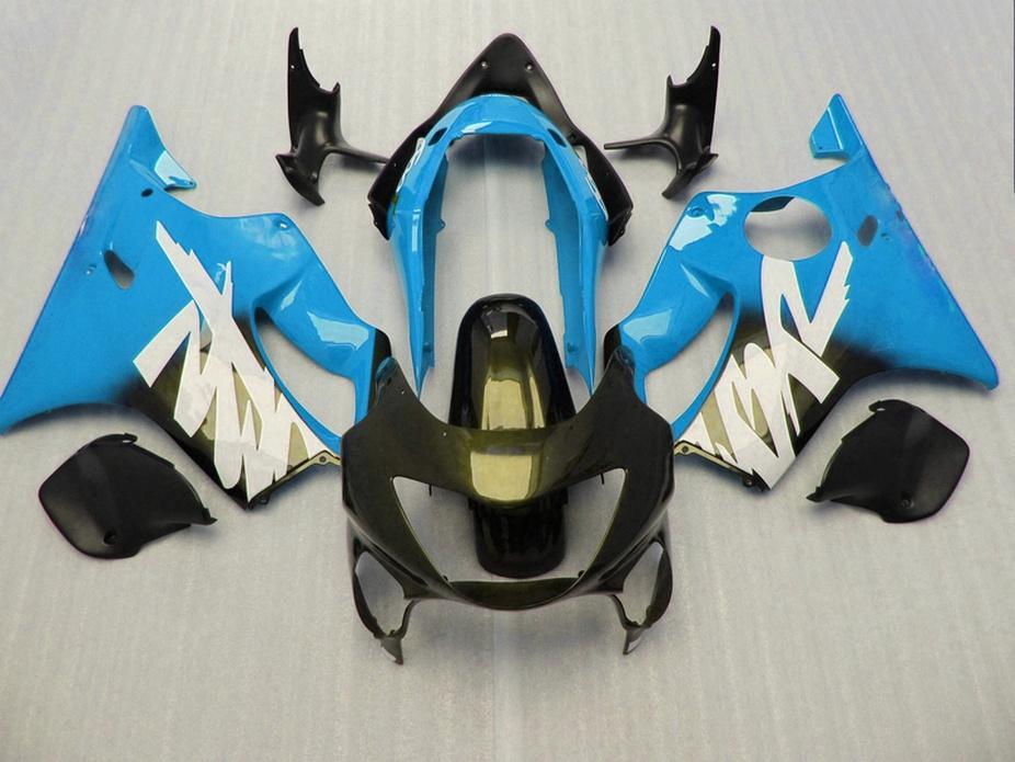 Montagem perfeita azuis partes do corpo negro para Honda CBR carenagens personalizadas 600 F4 1999 2000 CBR600 F4 99 00 carenagem kit FTXV