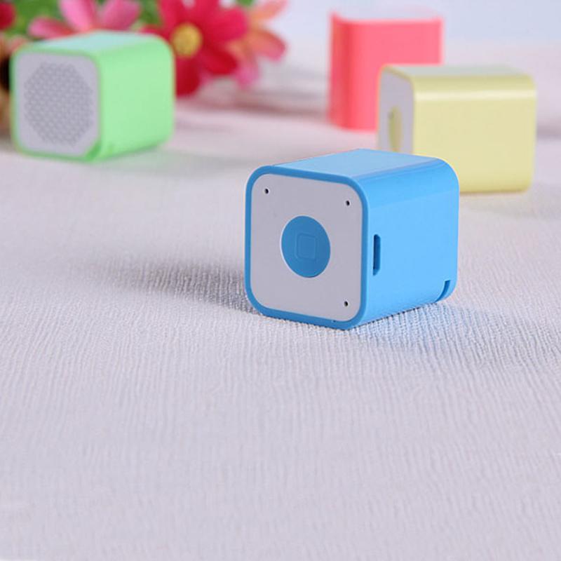 Mini quadratischer Bluetooth Lautsprecher-intelligenter Kasten beweglicher handfree bunter kleiner im FreienSoundkasten für Handy DHL geben MIS120 frei