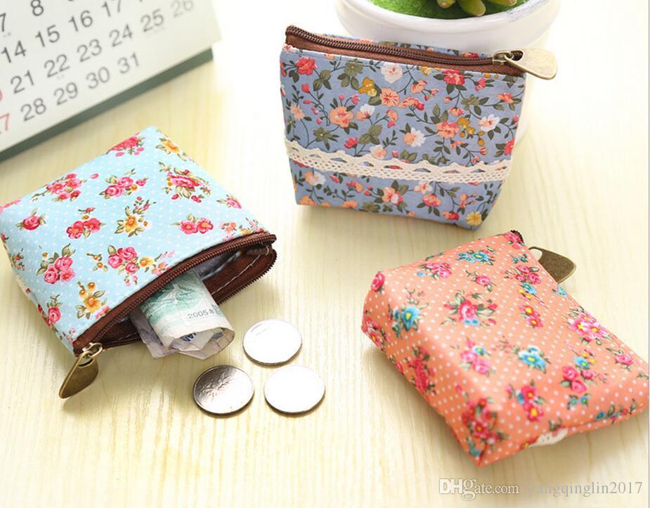 Women Girl Coin Bag Purse Wallet Card Case Gift Florals Money Bags Femmes