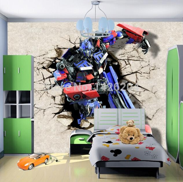 3d Transformers Cartoon Photo Wall Paper Murals For Kids Bedroom Boys  Bedroom Wallpaper,Custom Wallpapers Desktop Background Hd Wallpaper Desktop  Background ...