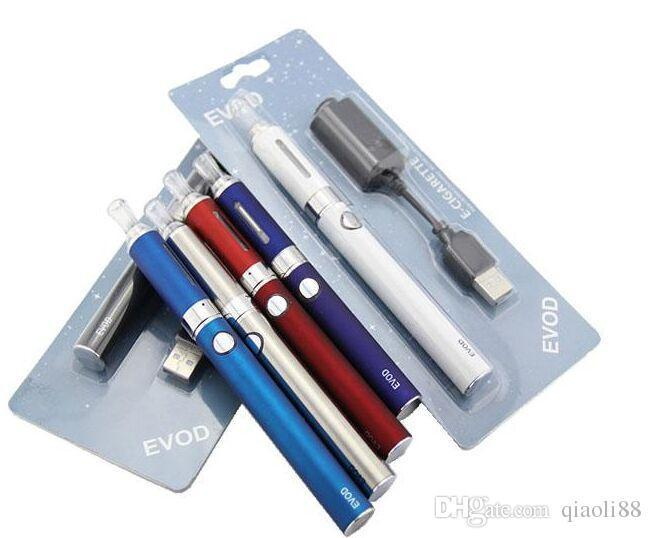 EVOD BCC MT3 Starter Blister Kit Elektronische Zigarette 650/900 / 1100mAh EVOD Batterie 2,4 ml MT3 Zerstäuber Clearomizer USB-Ladegerät Blisterpackung