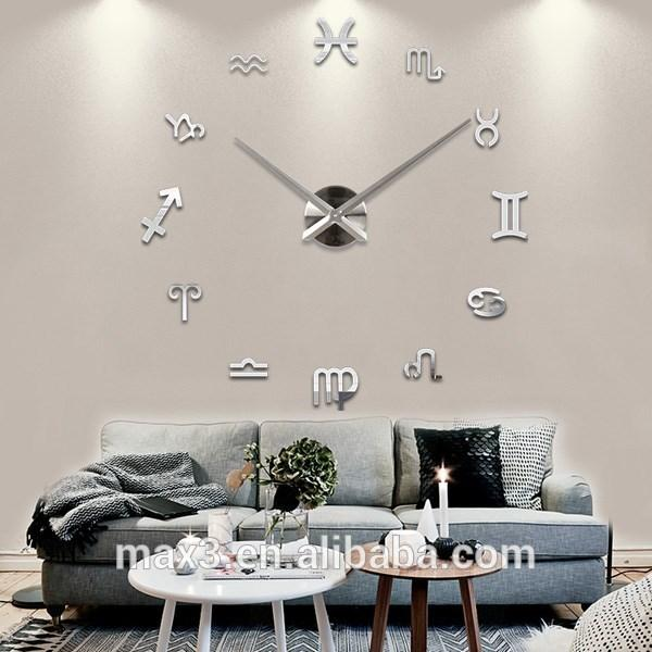 Max3 3d Wall Clock Promition Extra Large Decorative Wall Clock Online Shop  Round Clocks For Walls Round Digital Wall Clock From Davidhjg, $477.39|  Dhgate.