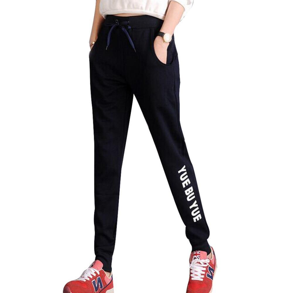 Harem Pants 2016 New Fashion Women Sports Pants Leggings Letter ... eb83e75b8ff8