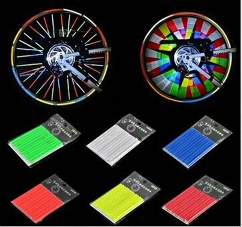 Bright Color Bicycle Wheel Spoke Reflector Reflective Light Safety
